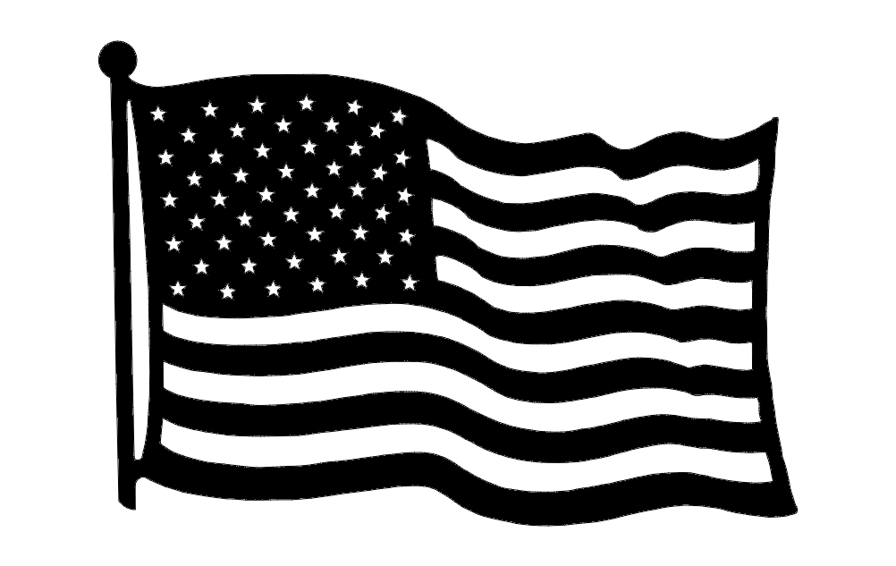 Us Flag Dxf File Free Download 3axis Co