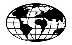 Free dxf files for laser free vectors download dxf cdr eps ai world map globe dxf file gumiabroncs Image collections