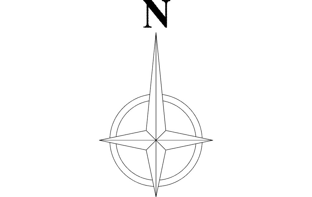 North Arrow Symbol Dxf File Free Download 3axis Co