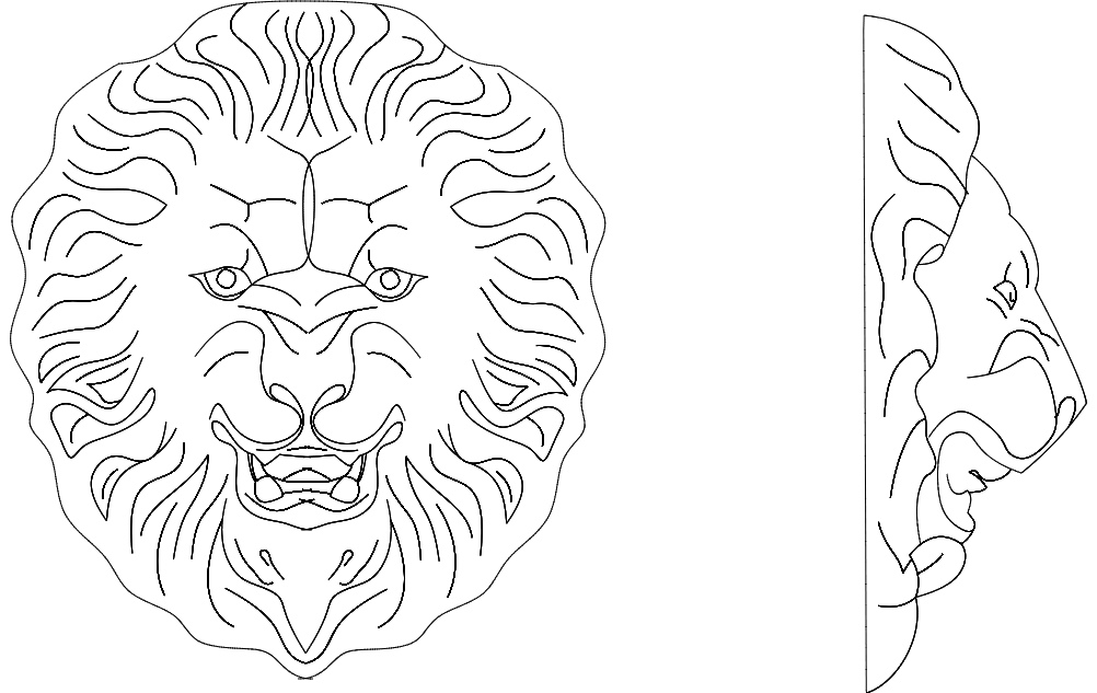 Lion 3 dxf File Free Download - 3axis co