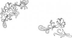 Vines and Flower Vector CDR File