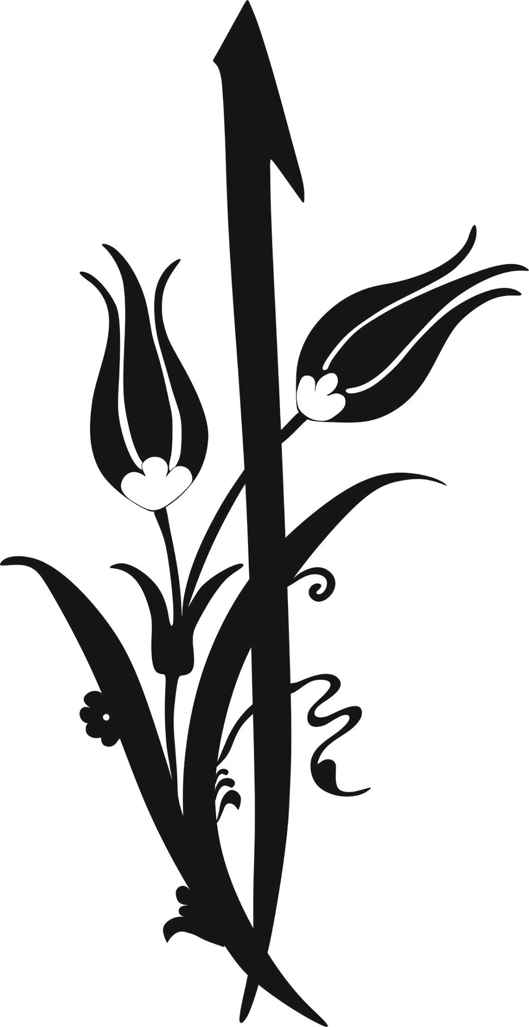 Black And White Flower Clipart Vector Jpg Image Free Download - 3Axisco-9481