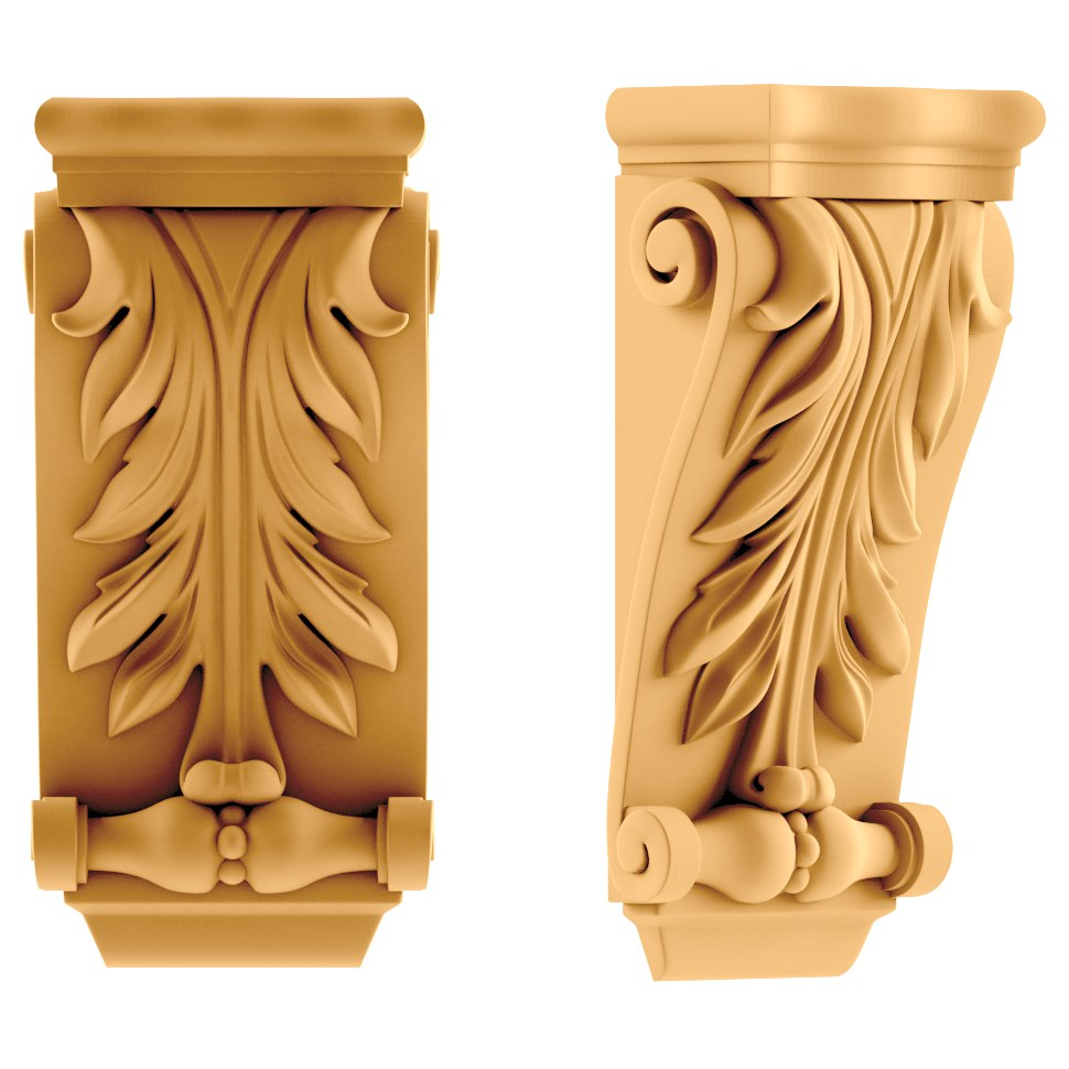 Medium Gothic Corbel Wood Carvin stl File Free Download ...