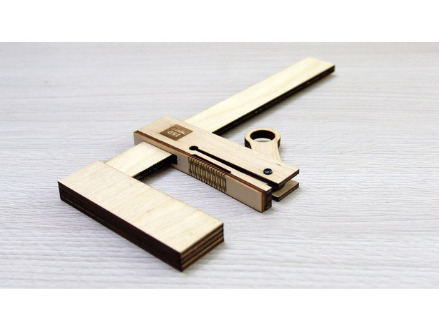 wooden-bar-clamp dxf File