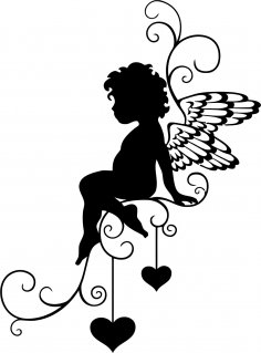 Angel Wall Sticker Vector CDR File