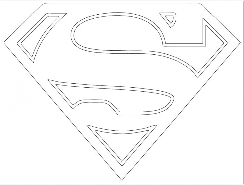 Superman Logo Dxf File Free Download 3axis Co