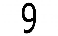 Number 9 dxf File