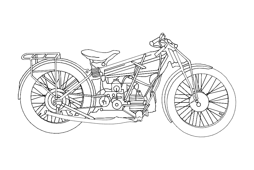 Motorcycle Old Dxf File Free Download 3axis Co