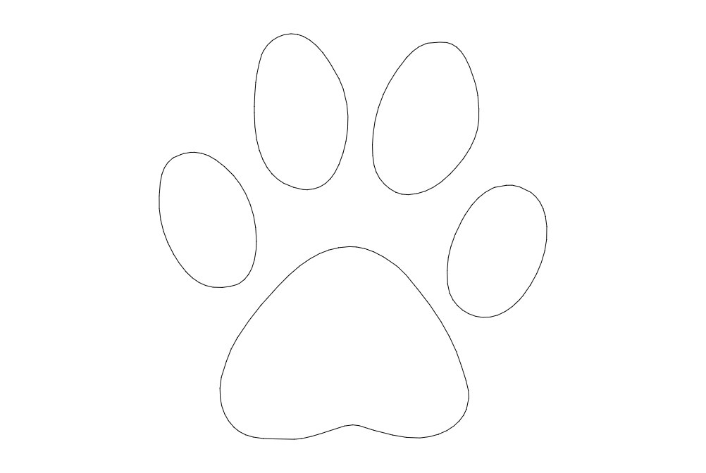 Dog Paw Dxf File Free Download 3axis Co
