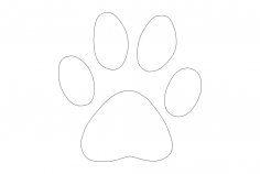 Dog Paw dxf File