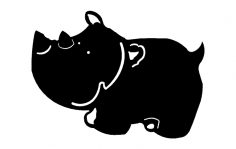 Hippo Cartoon dxf File
