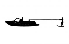 Kneeboard Fixed Skier Boat dxf File