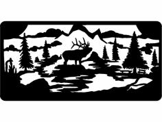 Elk Wall dxf File