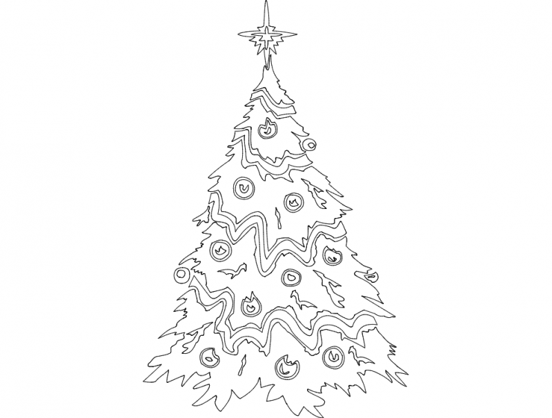 Festive Things Christmas Tree Dxf File Free Download 3axis Co