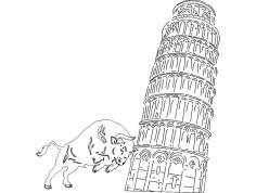 Pissa Tower dxf File