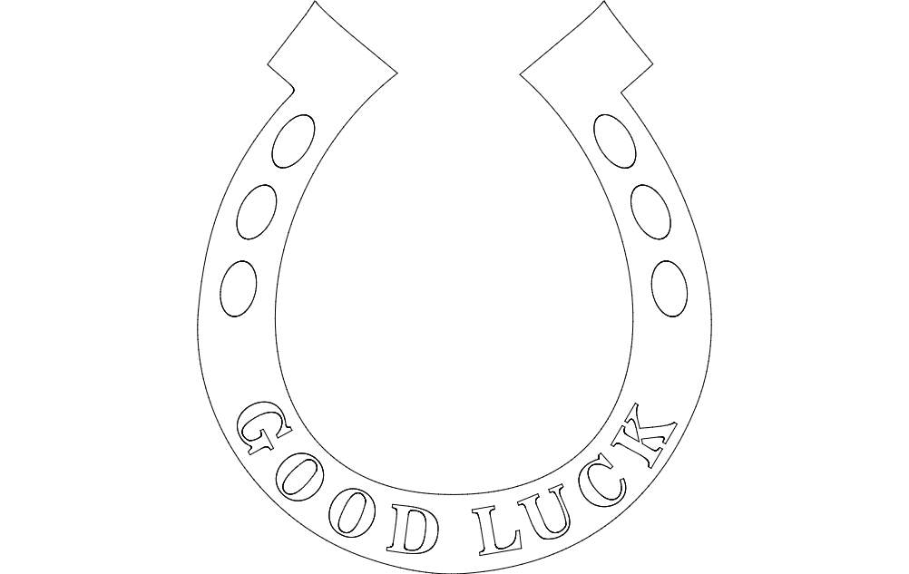 Horse Shoe Dxf File Free Download 3axis Co