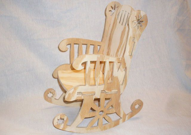 Rocking Chair Cnc Project 1 8 Inch Bit Dxf File Free