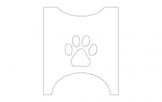 Dog bowl stand sides dxf File