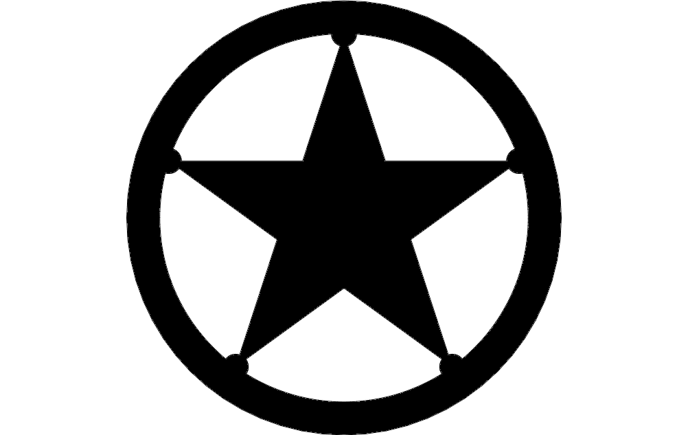 Texas Star Dxf File Free Download 3axis Co