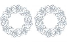 Rose frame dxf File