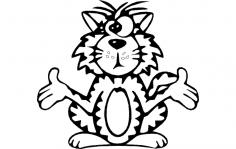 Cat cross eyed dxf File