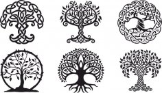 Celtic Trees vector CDR File