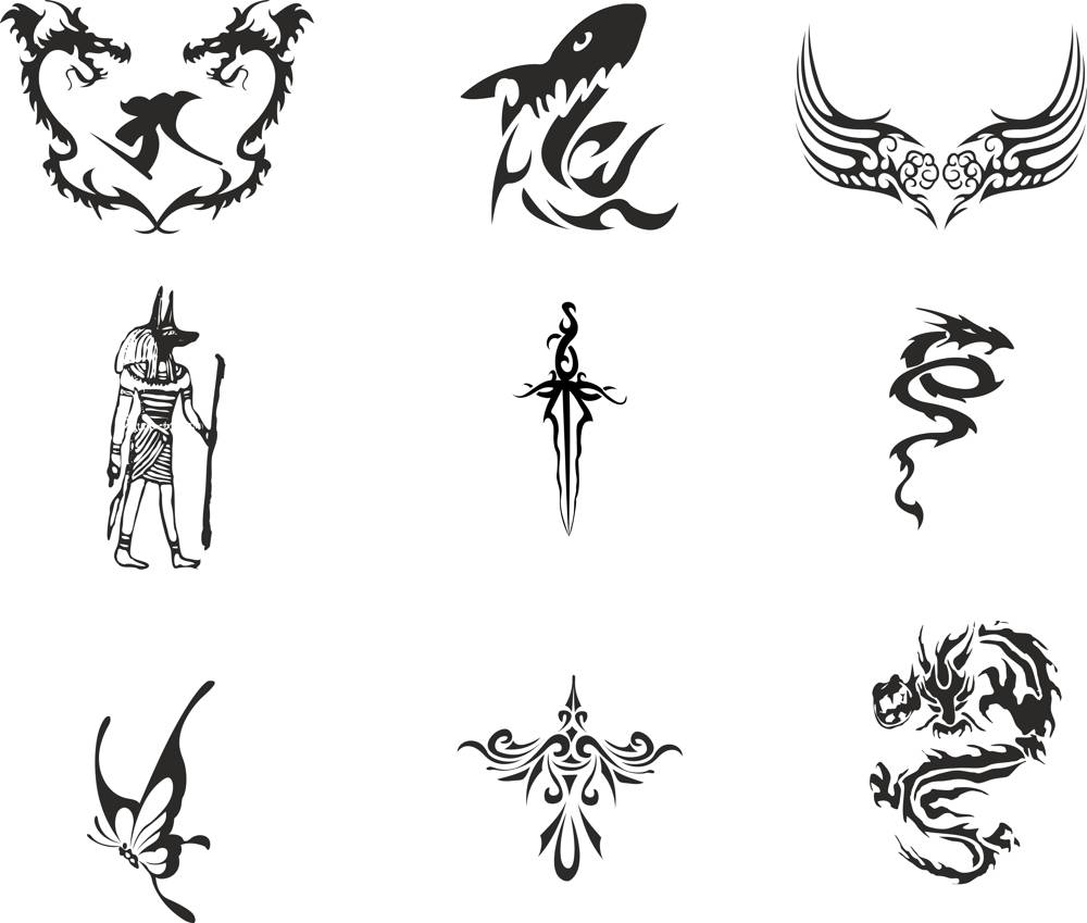 Vector Totem Tattoos CDR File