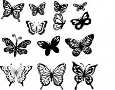 Butterfly Vector Art Set CDR File