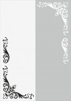 Flower Wall Decal Vector CDR File