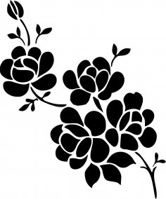 Simple flower designs black and white vector art jpg image free elegant black and white flower vector art jpg image mightylinksfo