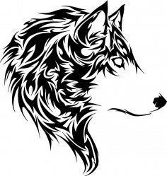 Wolf Stencil Vector CDR File