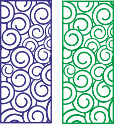 Abstract Circle Lines partition screen CDR File