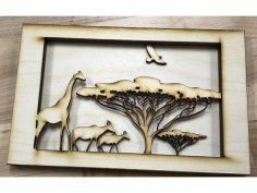 African Tunnel Book Laser Cut DXF File
