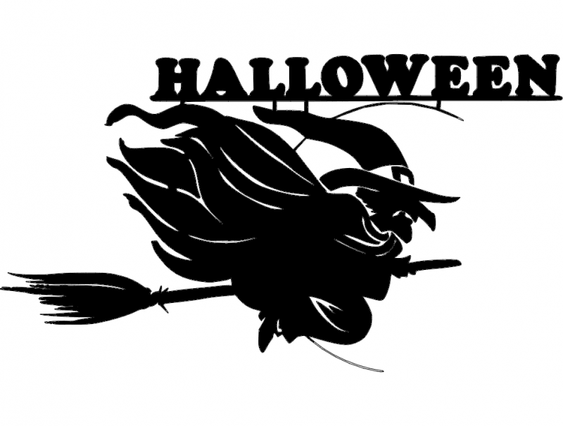 800px Halloween Witch Svg Dxf File Free Download 3axis Co