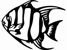Angel Fish 2 dxf File