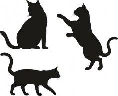 Cat Silhouette Vectors CDR File