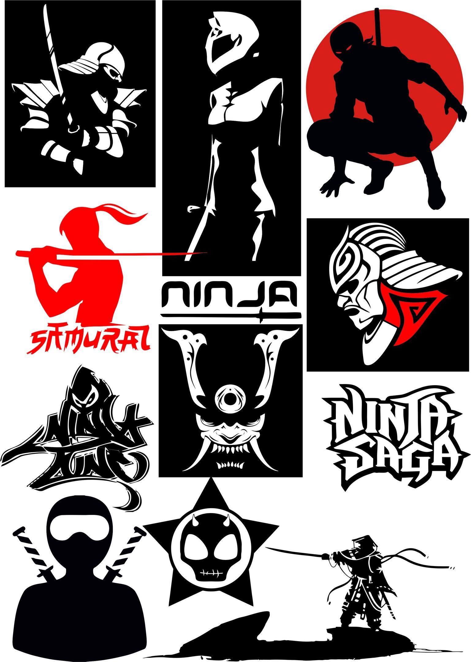 Ninja Vectors Art Pack CDR File