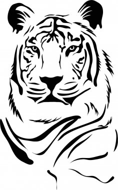 Tiger Stencil CDR File