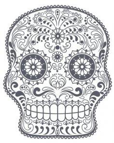 Sugar skull CDR File