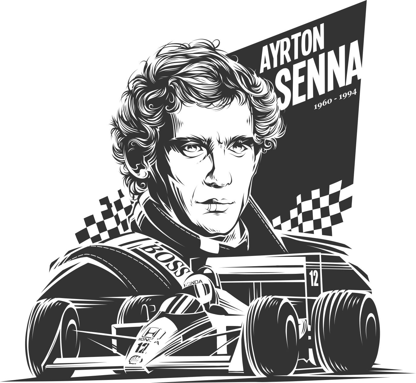 ayrton senna vector free vector cdr download 3axisco