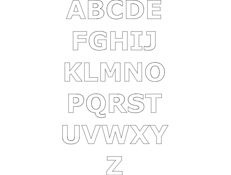 Download Alphabet gimp dxf File Free Download - 3axis.co
