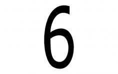 Number 6 dxf File