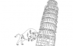 Pisa tower dxf File