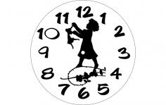 Horloge Fille dxf File