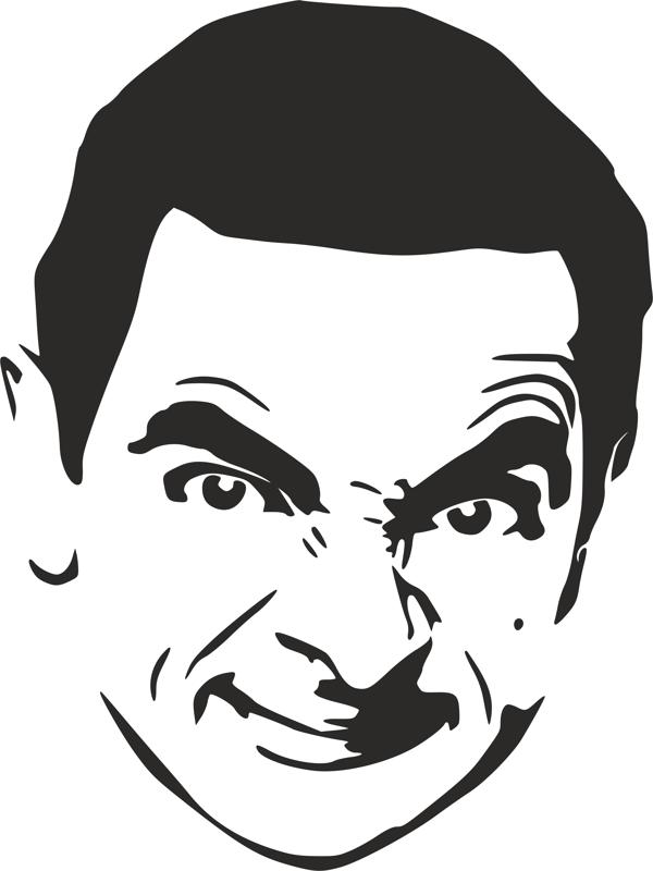 Mr Bean Stencil Dxf File Free Download 3axis Co
