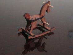 Laser Cut Rocking Horse 6mm MDF DXF File