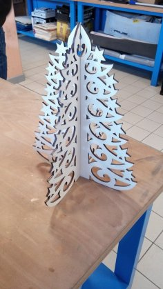 Laser Cut Christmas Tree Template DXF File