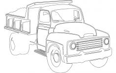 Dump Truck DXF File