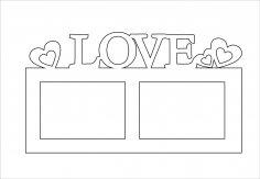 Love Ramka Na 2 Foto CDR File
