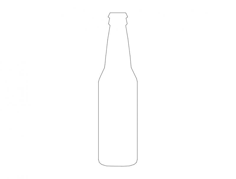 Silueta De Botella Dxf File Free Download 3axis Co